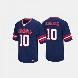 Mens Hail Mary II Rebels #10 college Jersey - Navy