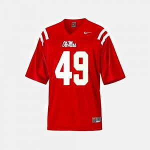 For Kids Ole Miss Rebels #49 Football Patrick Willis college Jersey - Red