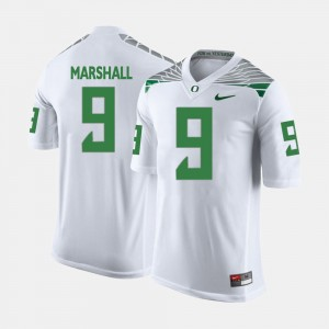Men's #9 UO Football Byron Marshall college Jersey - White