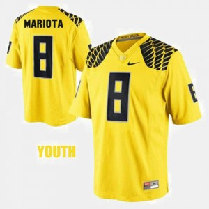 For Kids Football UO #8 Marcus Mariota college Jersey - Yellow