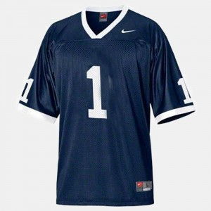 Men's #1 Penn State Nittany Lions Football college Jersey - Blue