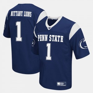 Men Football #1 Penn State Nittany Lions college Jersey - Navy