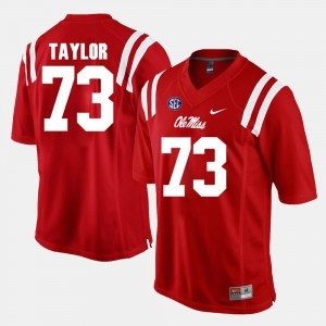 Mens University of Mississippi #73 Alumni Football Game Rod Taylor college Jersey - Red