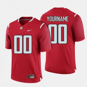 Men's Rutgers Football #00 college Customized Jerseys - Red