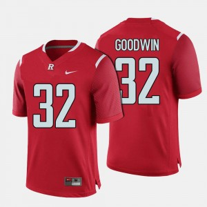 Men's #32 Rutgers Football Justin Goodwin college Jersey - Red