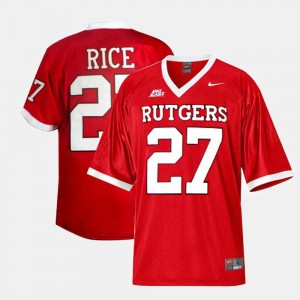 Men Rutgers University Football #27 Ray Rice college Jersey - Red