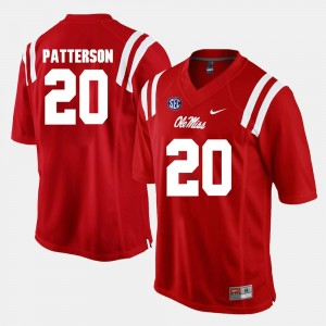 Men Alumni Football Game University of Mississippi #20 Shea Patterson college Jersey - Red