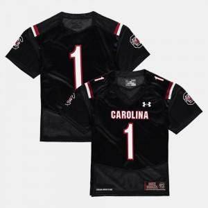 Youth(Kids) #1 Football USC Gamecocks college Jersey - Black