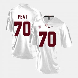 Men's Stanford #70 Football Andrus Peat college Jersey - White