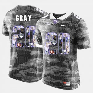 Mens Horned Frogs #20 High-School Pride Pictorial Limited Deante Gray college Jersey - Grey
