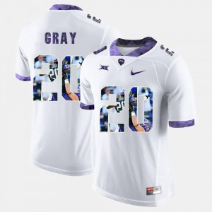 Men Texas Christian University #20 High-School Pride Pictorial Limited Deante Gray college Jersey - White