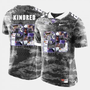 Men's TCU Horned Frogs High-School Pride Pictorial Limited #26 Derrick Kindred college Jersey - Grey