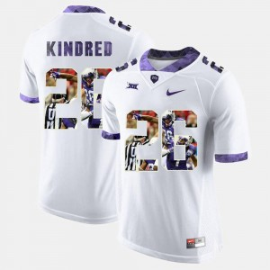 Men High-School Pride Pictorial Limited #26 Texas Christian University Derrick Kindred college Jersey - White