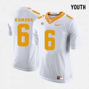 Youth Football #6 University Of Tennessee Alvin Kamara college Jersey - White