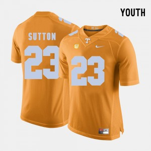 Youth Tennessee #23 Football Cameron Sutton college Jersey - Orange