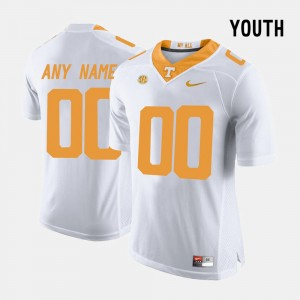 For Kids Limited Football #00 Tennessee Vols college Customized Jersey - White