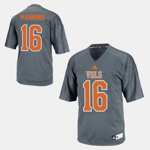 Youth #16 VOL Football Peyton Manning college Jersey - Gray