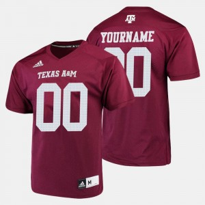 Men A&M Football #00 college Customized Jersey - Maroon