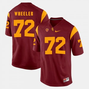 Men's USC Pac-12 Game #72 Chad Wheeler college Jersey - Red