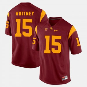 Men's #15 Pac-12 Game USC Isaac Whitney college Jersey - Red