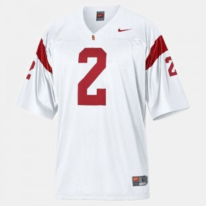 Youth Football USC #2 Robert Woods college Jersey - White