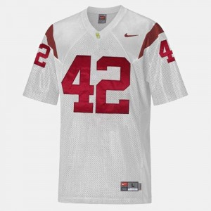 For Kids USC Trojans Football #42 Ronnie Lott college Jersey - White