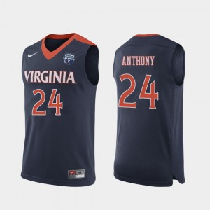 Men's #24 Marco Anthony college Jersey - Navy 2019 Men's Basketball Champions Cavalier