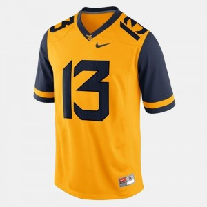 Kids Football #13 WV Andrew Buie college Jersey - Gold