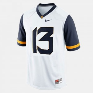 Men #13 WVU Football Andrew Buie college Jersey - White