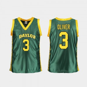 For Women's Bears Replica Basketball #3 Trinity Oliver college Jersey - Green
