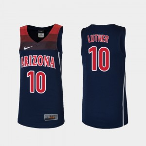 For Kids Wildcats Replica #10 Basketball Ryan Luther college Jersey - Navy