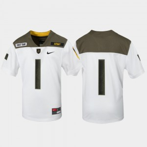 Youth(Kids) Army #1 Limited Edition Replica 1st Cavalry Division college Jersey - White