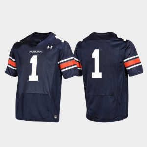 Youth Tigers Replica Football 2019 #1 college Jersey - Navy