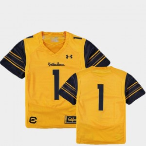 Kids #1 college Jersey - Gold Football Finished Replica Cal Berkeley