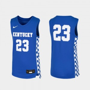 For Kids Basketball UK #23 Replica college Jersey - Royal