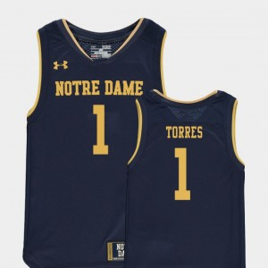 Youth(Kids) Replica Basketball Special Games #1 Notre Dame Austin Torres college Jersey - Navy