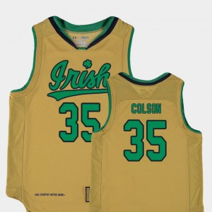 For Kids #35 Replica Irish Basketball Special Games Bonzie Colson college Jersey - Gold