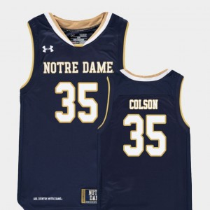 Youth #35 Replica Basketball ND Bonzie Colson college Jersey - Navy