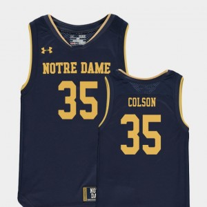Youth #35 ND Basketball Special Games Replica Bonzie Colson college Jersey - Navy