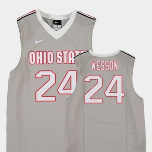 Kids Replica Basketball Buckeyes #24 Andre Wesson college Jersey - Gray