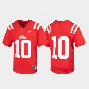 Youth Untouchable Rebels #10 Football college Jersey - Red