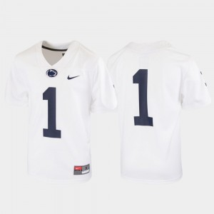 Youth(Kids) PSU #1 Untouchable Football college Jersey - White