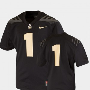 Youth #1 Football Purdue Team Replica college Jersey - Black