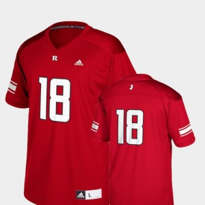 For Kids Replica Rutgers Football #18 college Jersey - Scarlet