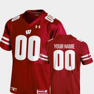 Youth(Kids) Football 2018 Replica University of Wisconsin #00 college Customized Jerseys - Red